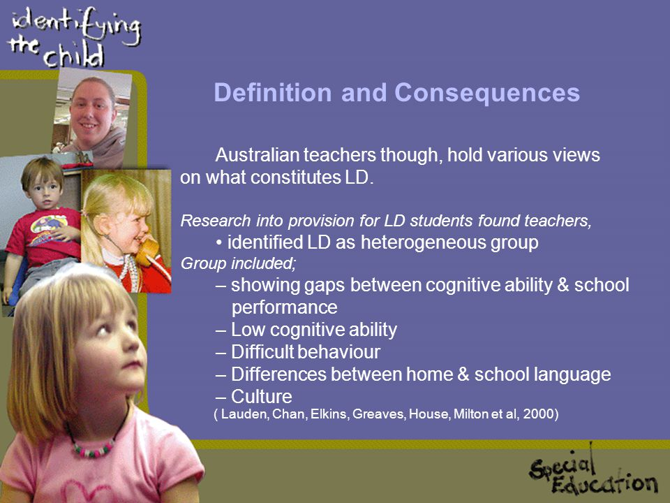 Definition and Consequences In Australia & New Zealand, a student experiencing low achievement, which may impact on later adolescence and adulthood is