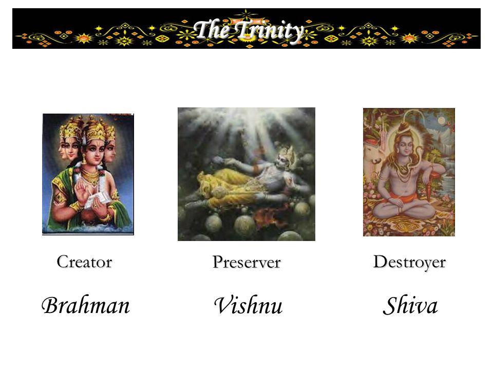 Destroyer Shiva Preserver Vishnu Creator Brahman The Trinity