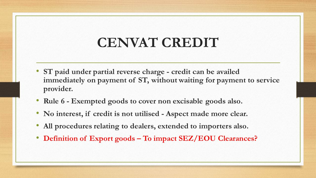 CENVAT CREDIT ST paid under partial reverse charge - credit can be availed immediately on payment of ST, without waiting for payment to service provider.