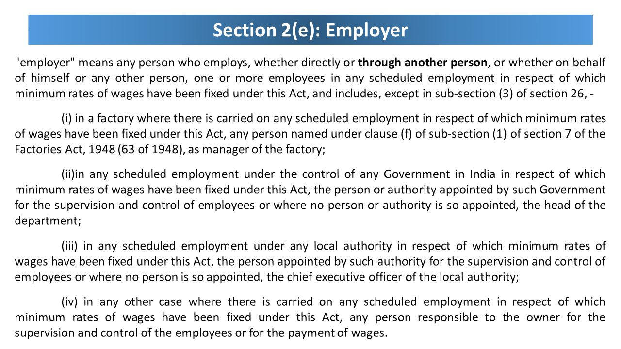 Section 2(e): Employer