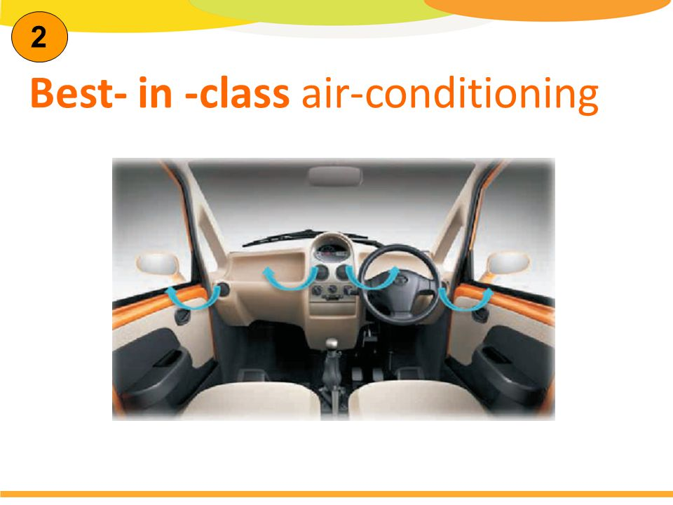 2 Best- in -class air-conditioning