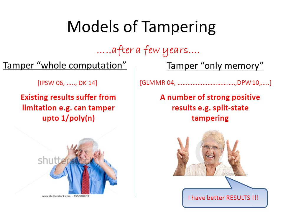 Our approach Can we protect against more Tampering with computation if we consider RAM .