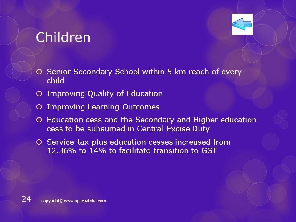 Welfare  Children  Youth  Senior Citizens  Women  Poor/Destitute/BPL  Backward Classes & Minorities copyright@ www.upscpatrika.com 23