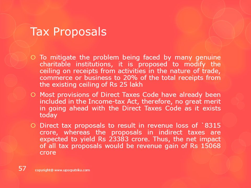 Tax Proposals  Lot to look forward to as fiscal capacity improves  Conversion of existing excise duty on petrol and diesel to the extent of Rs 4 per