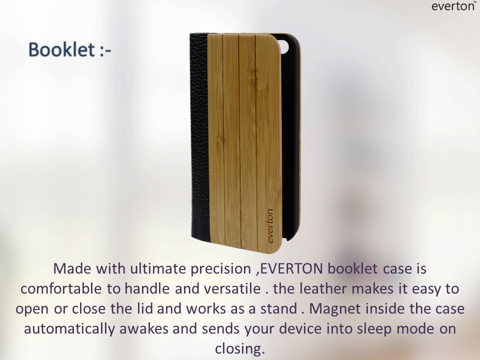 Made with ultimate precision,EVERTON booklet case is comfortable to handle and versatile.