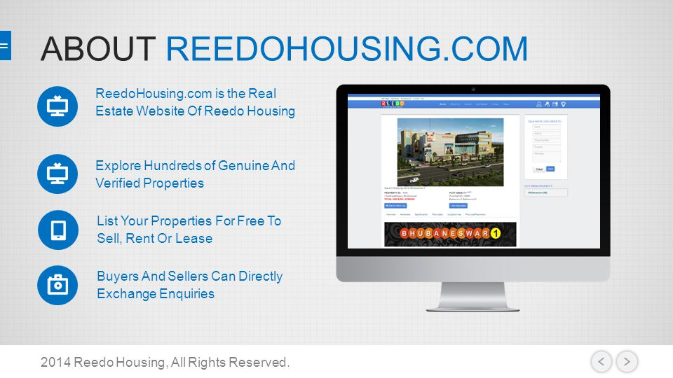 ABOUT REEDOHOUSING.COM 2014 Reedo Housing, All Rights Reserved.