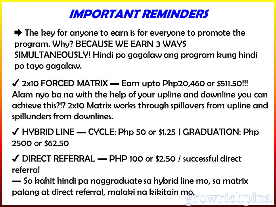 ✔ 2x10 FORCED MATRIX ▬ Earn upto Php20,460 or $511.50!!.