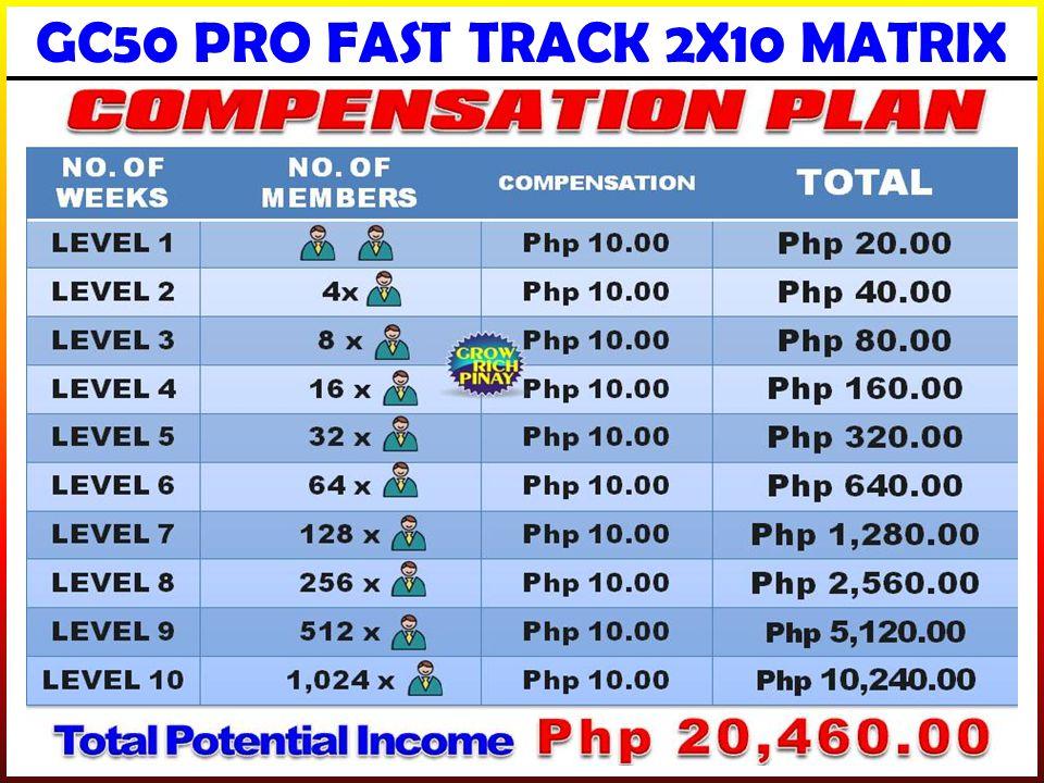 GC50 PRO FAST TRACK 2X10 MATRIX