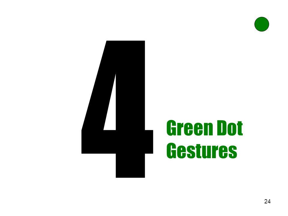 24 Green Dot Gestures