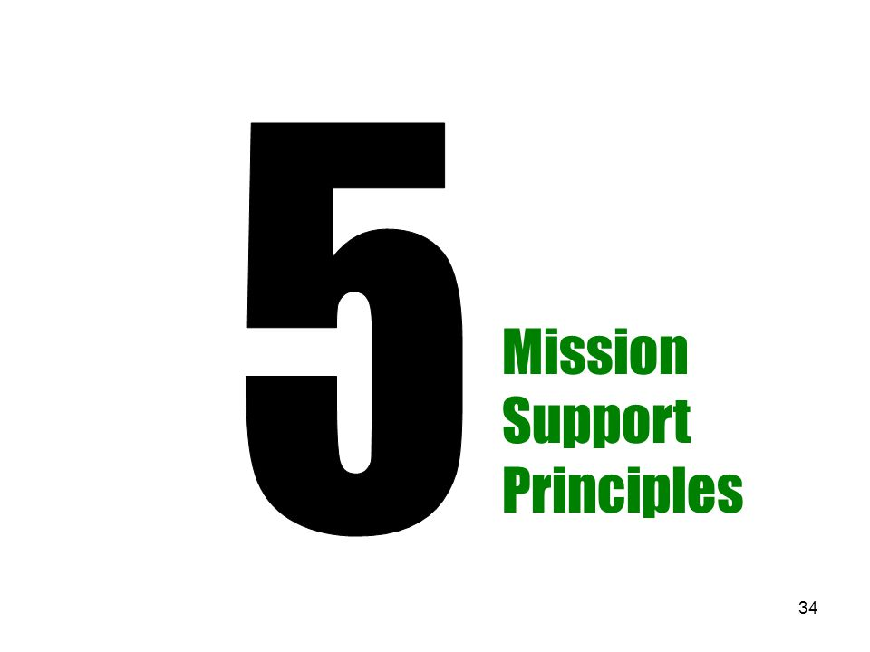 34 Mission Support Principles