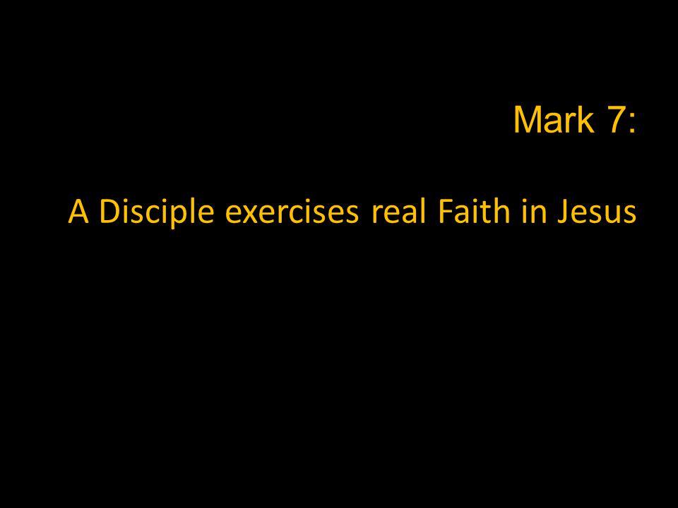 Mark 8: A Disciple is generous, like Jesus Mark 8 proves the reality Mark 7