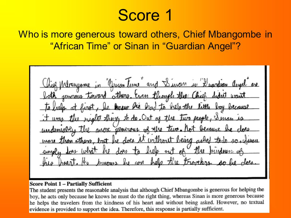 Score 1 Who is more generous toward others, Chief Mbangombe in African Time or Sinan in Guardian Angel ?