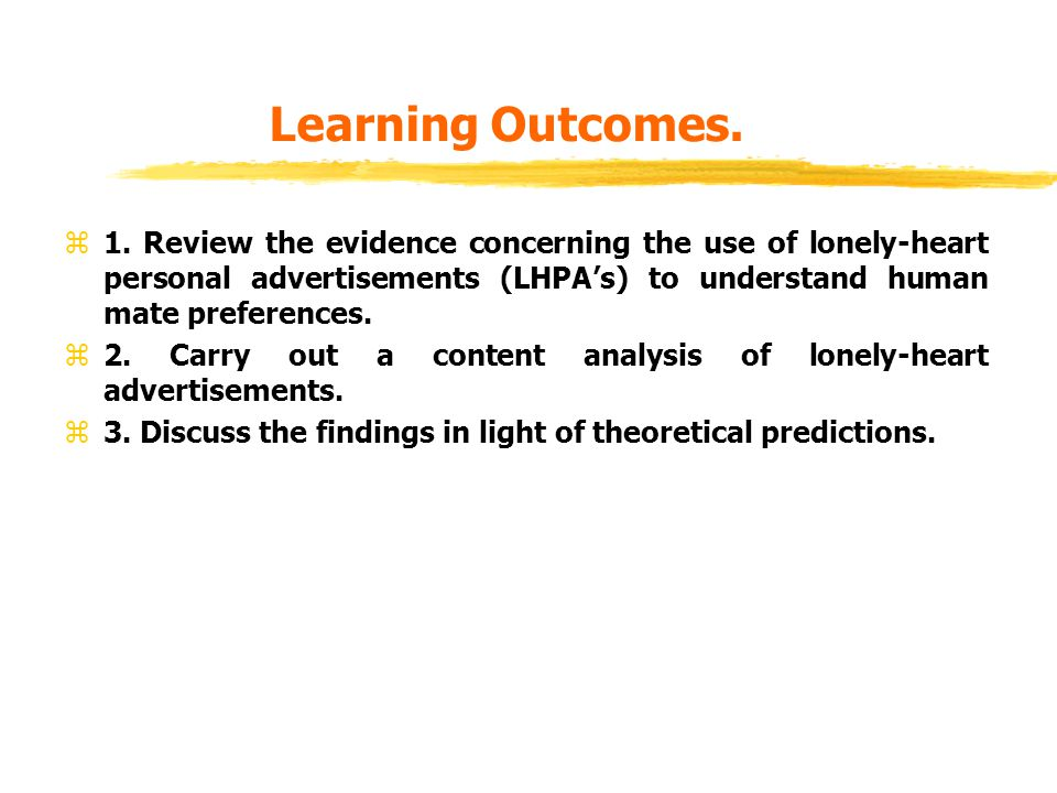 Learning Outcomes. z1.