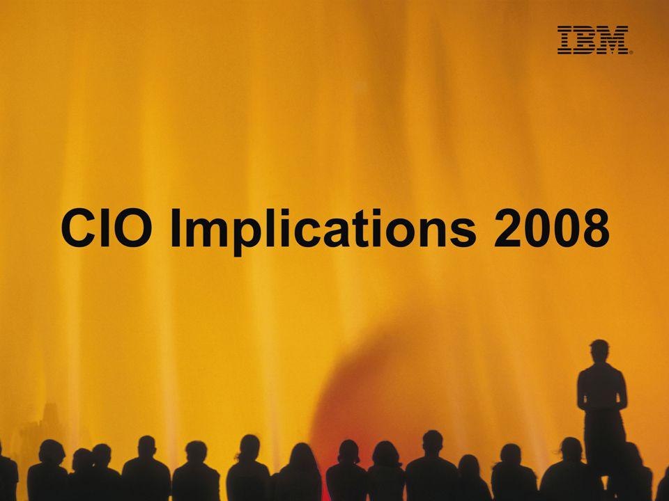 An Agenda for the New CIO Shanker Annaswamy Managing Director IBM India Pvt Ltd August 8, 2008