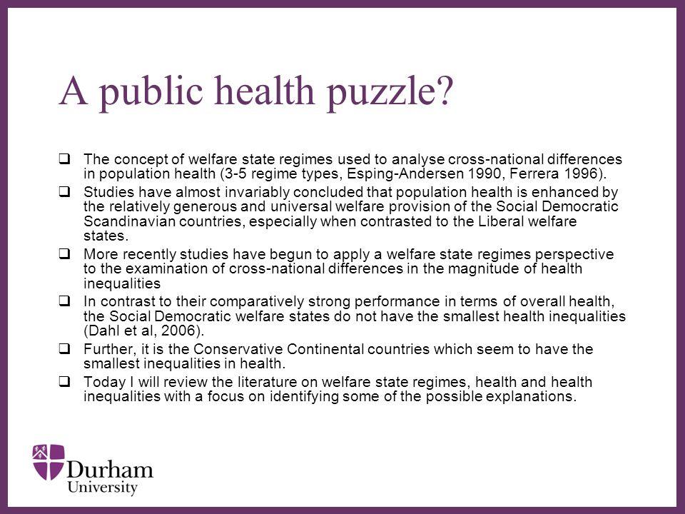 ∂ A public health puzzle.