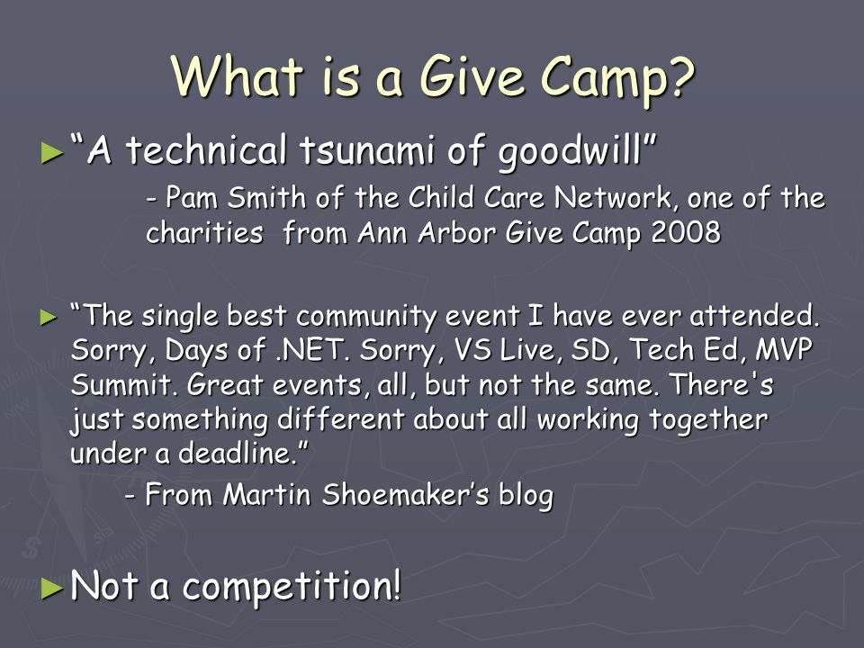 What is a Give Camp.
