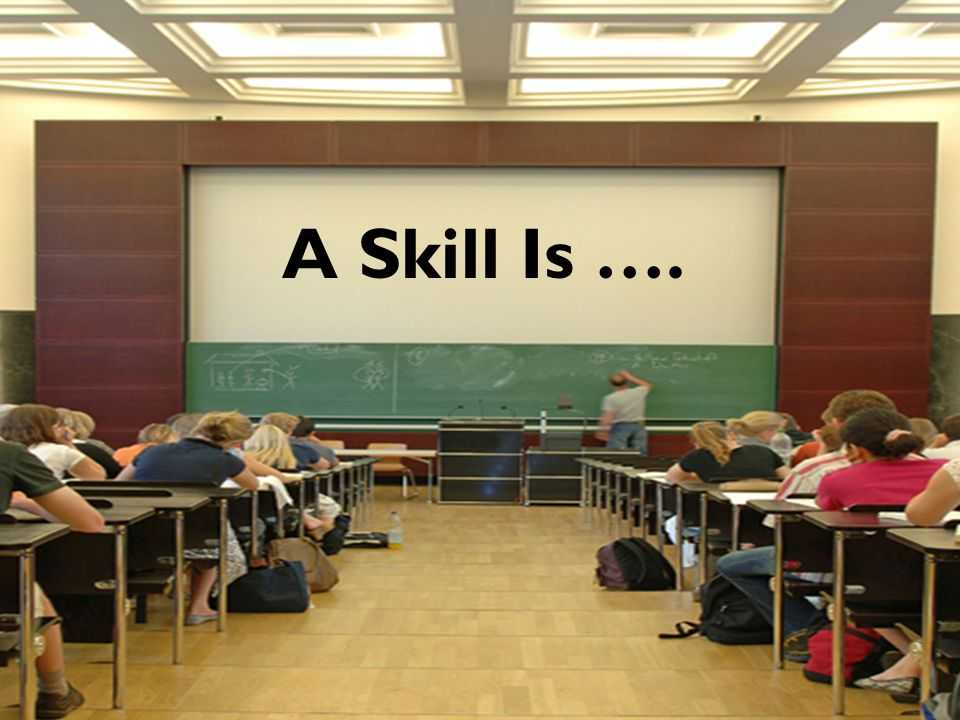 A Skill Is ….