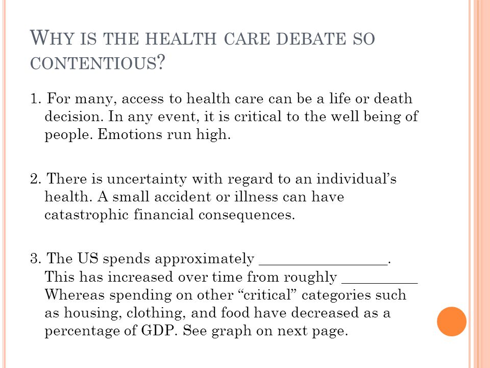 US E XPENDITURES ON H EALTH C ARE (A S A PERCENT OF GDP)