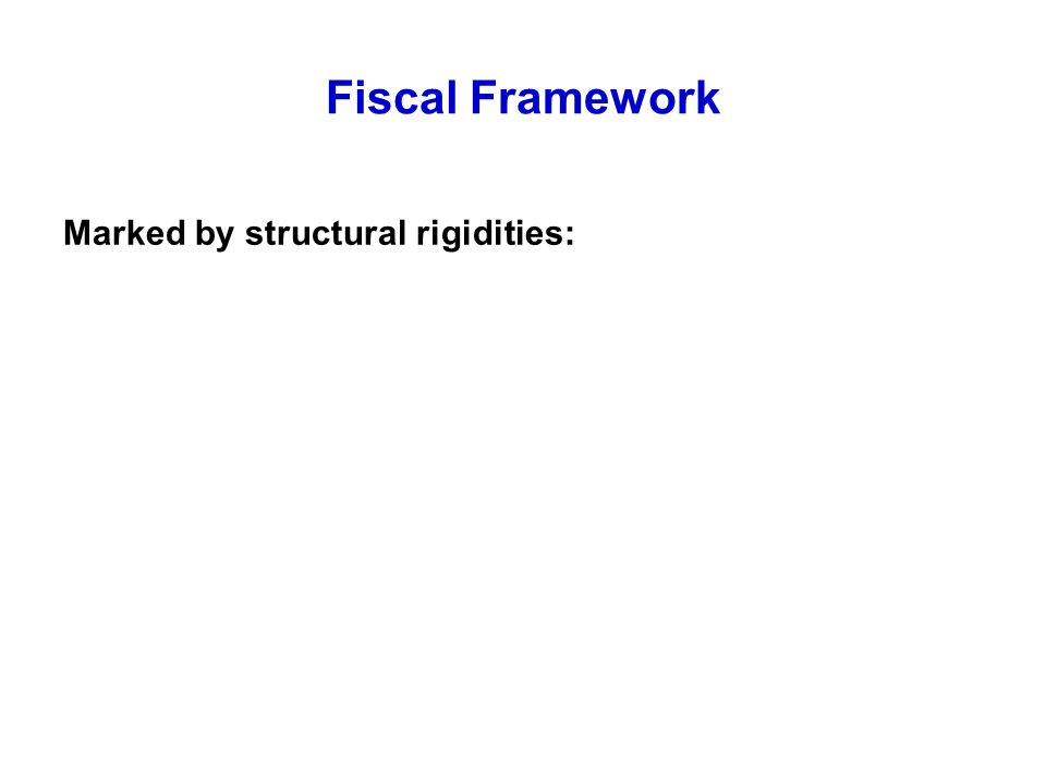 Fiscal Framework Marked by structural rigidities: