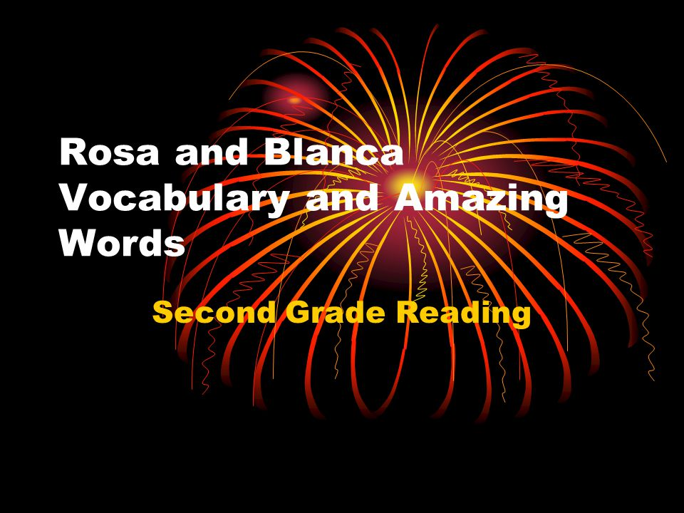 Rosa and Blanca Vocabulary and Amazing Words Second Grade Reading