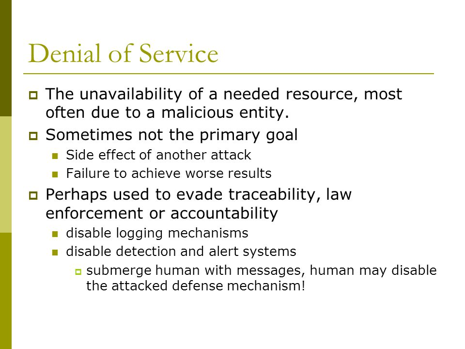 Discussion  Discuss the similarities between SPAM and human resource exhaustion attacks.