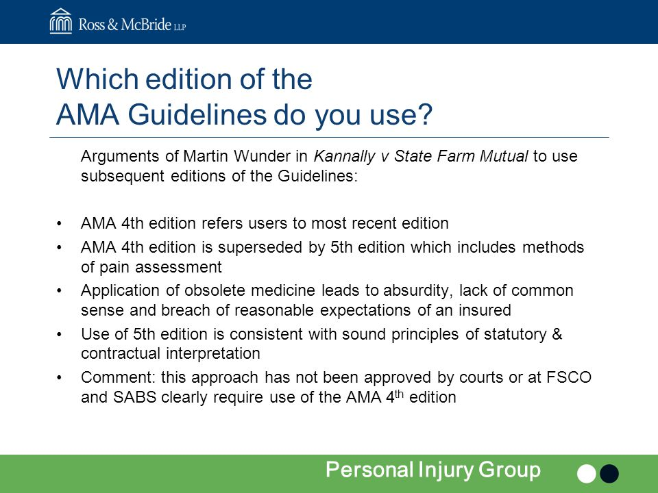 Which edition of the AMA Guidelines do you use.