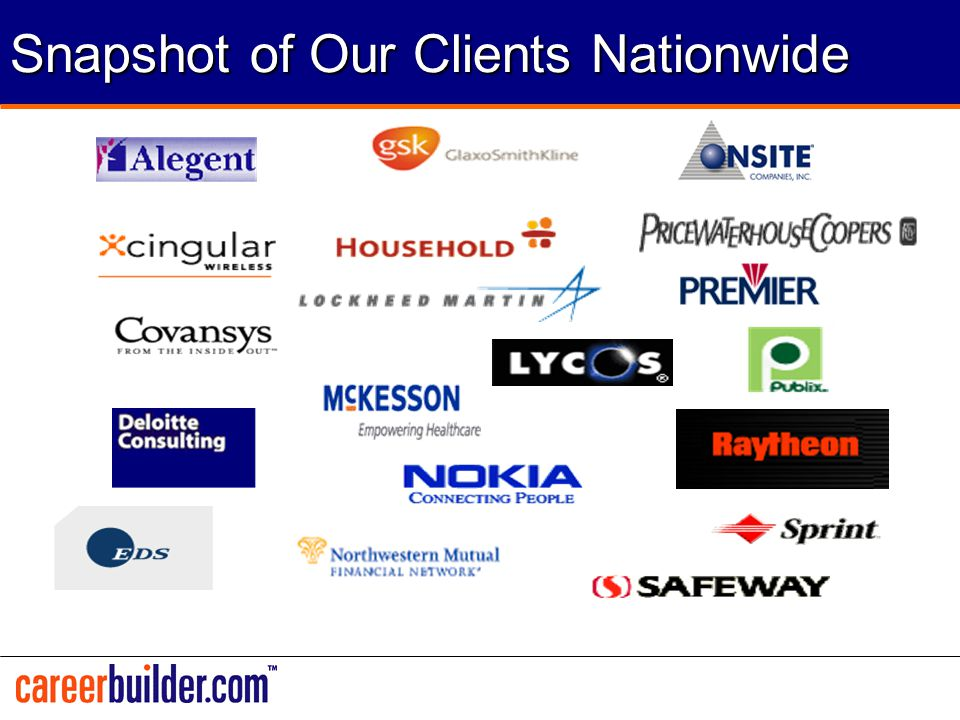Snapshot of Our Clients Nationwide
