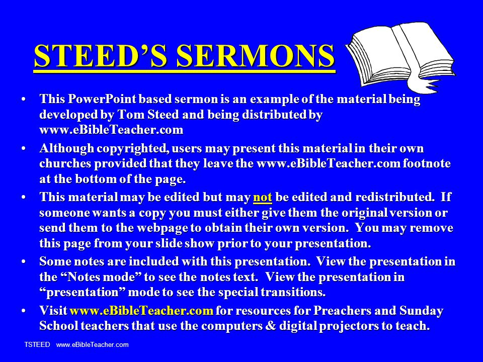 TSTEED www.eBibleTeacher.com Work To Eat 2 Thessalonians 3:10 If a man will not work, he shall not eat. 2 Thessalonians 3:10 If a man will not work, he shall not eat. Lev 23:22 By gleaning in the fields, even the poor had to go out and pick up what was left.Lev 23:22 By gleaning in the fields, even the poor had to go out and pick up what was left.