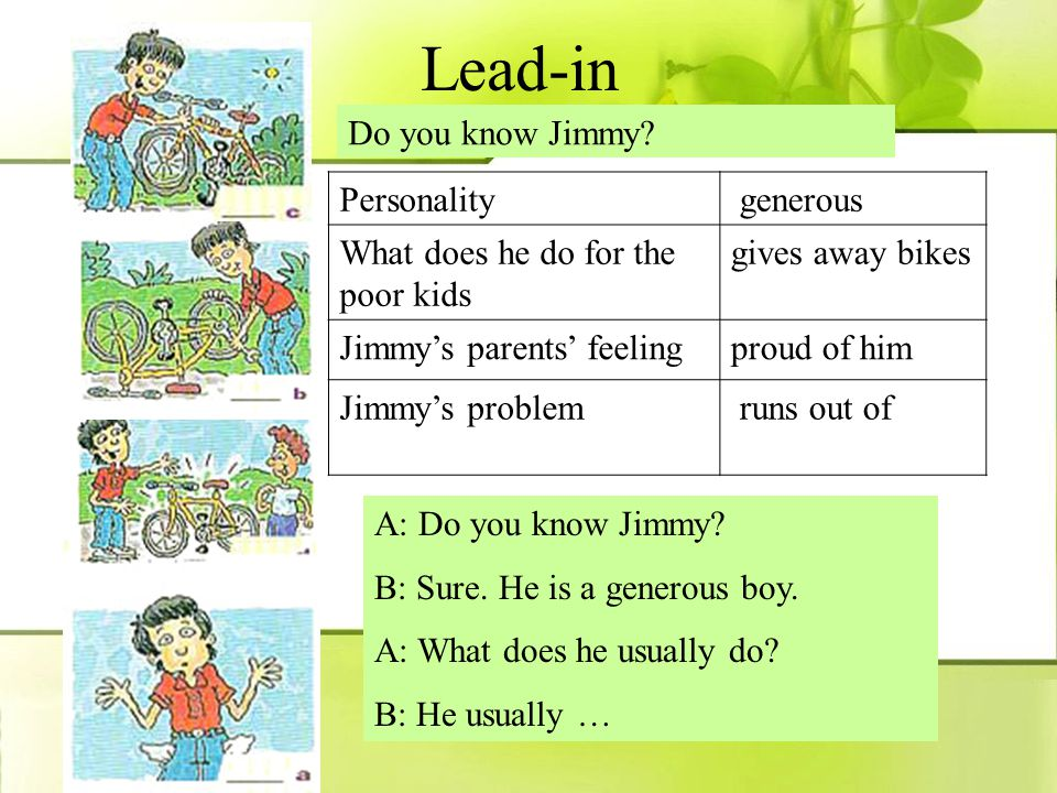 Period 4 Section B 3a 3b 4 The bike boy Jimmy --- solve problems