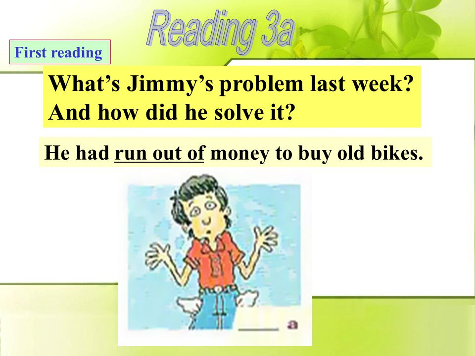 Lead-in Do you know Jimmy. A: Do you know Jimmy. B: Sure.