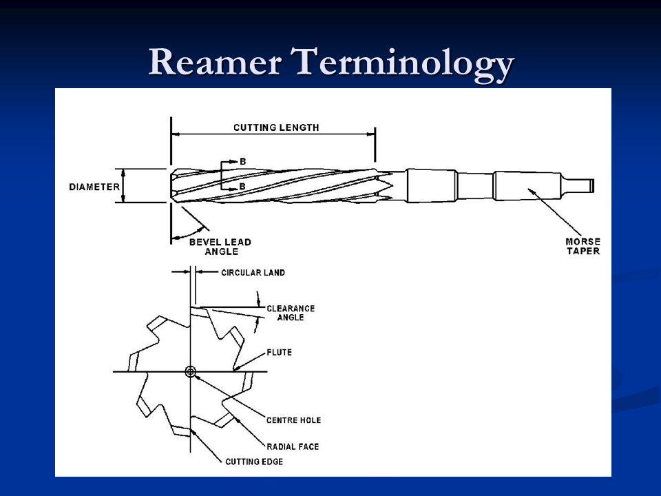 Reamer Terminology