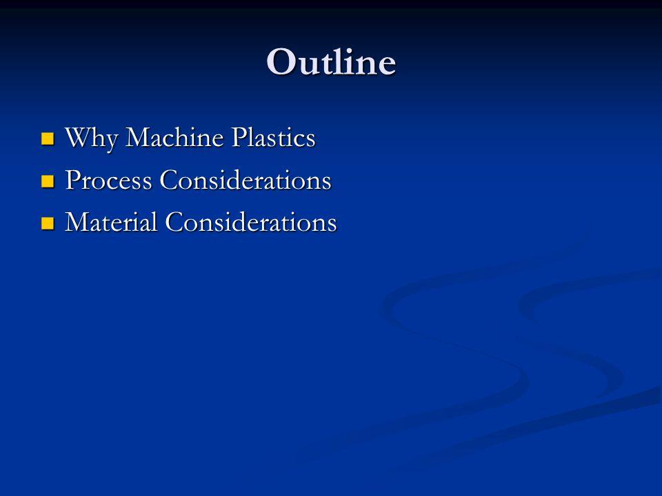 Why Machine Plastic.