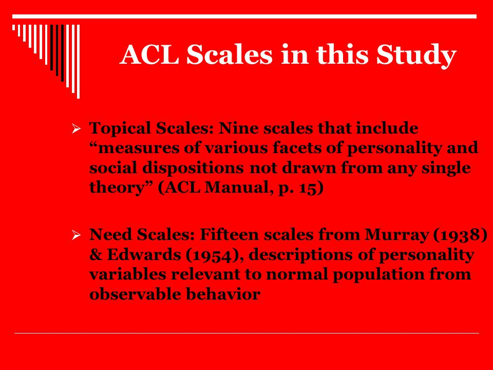 Procedures 2004  Classroom Setting  A set of modified written instructions directed students to fill out the ACL describing their IDEAL Academic Advisor rather than describing themselves.