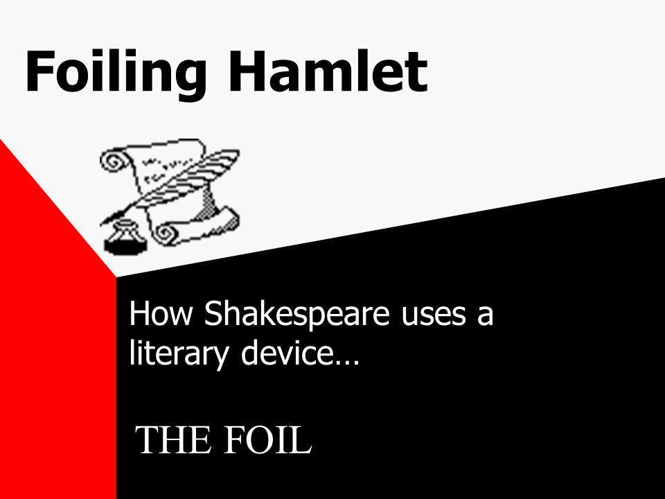 Foiling Hamlet How Shakespeare uses a literary device… THE FOIL