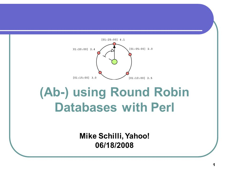 2 Overview What are Round Robin Databases? RRD and Perl – which module to use? Practical Examples