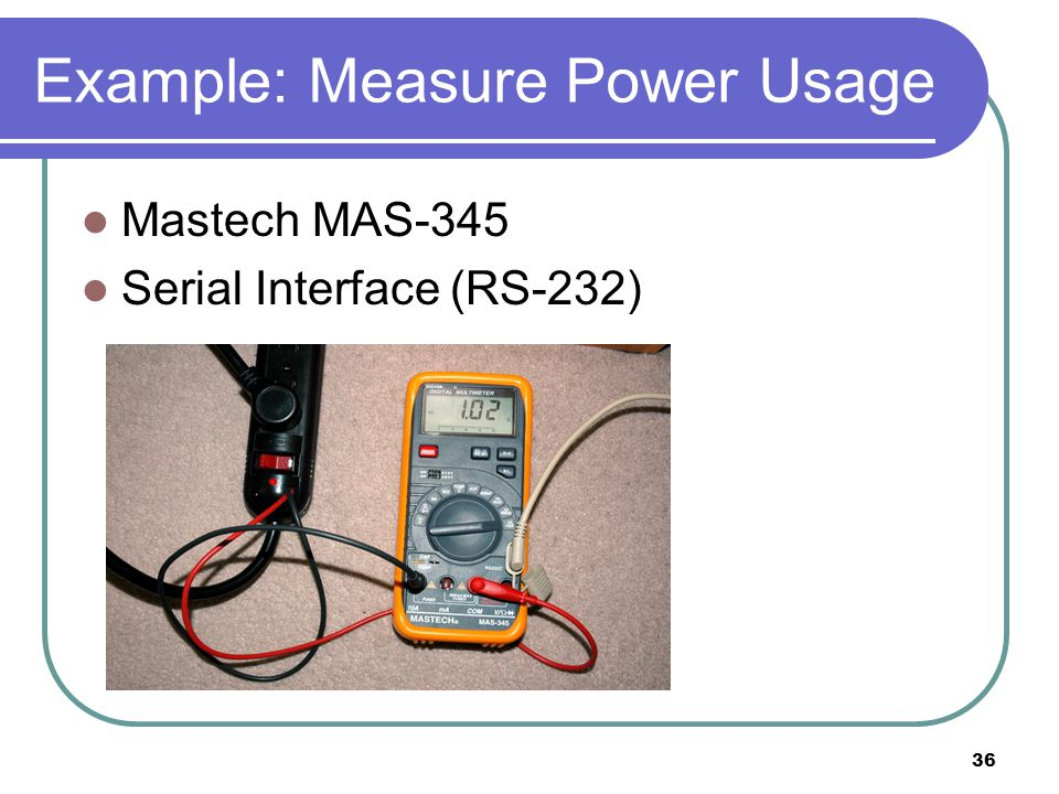 37 Example: Measure Power Usage