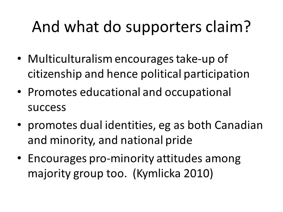 And what do supporters claim.