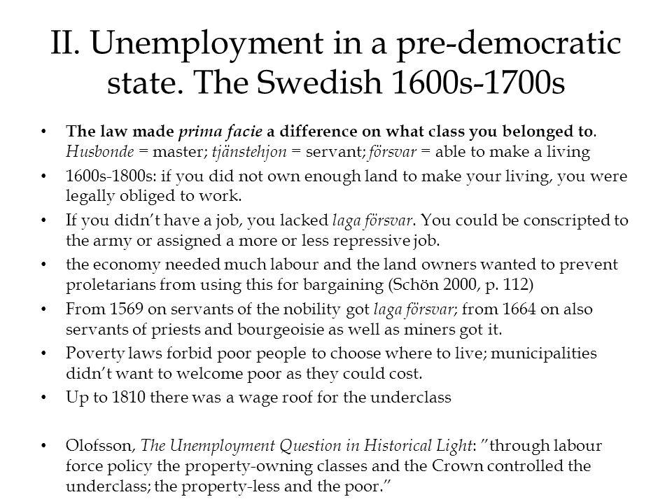 V. Swedish unemployment 1976-