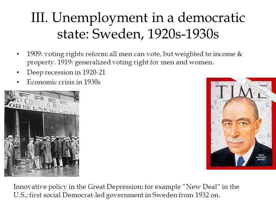III.Unemployment 1920 - 2000