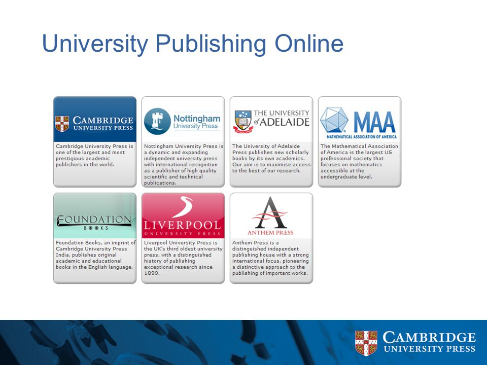 University Publishing Online