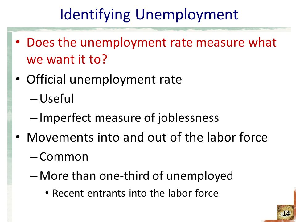 Identifying Unemployment Does the unemployment rate measure what we want it to.