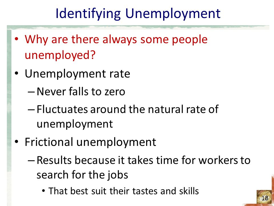 Identifying Unemployment Why are there always some people unemployed.