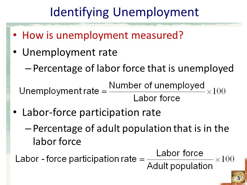 Table The labor-market experiences of various demographic groups 1 6 Demographic GroupUnemployment RateLabor-force Participation Rate Adults (ages 20 and older) White, male White, female Black, male Black, female Teenagers (ages 16–19) White, male White, female Black, male Black, female 3.7% 3.6 7.9 6.7 15.7 12.1 33.8 25.3 76.3% 60.1 71.2 64.0 44.3 44.6 29.4 31.2 This table shows the unemployment rate and the labor-force participation rate of various groups in the U.S.