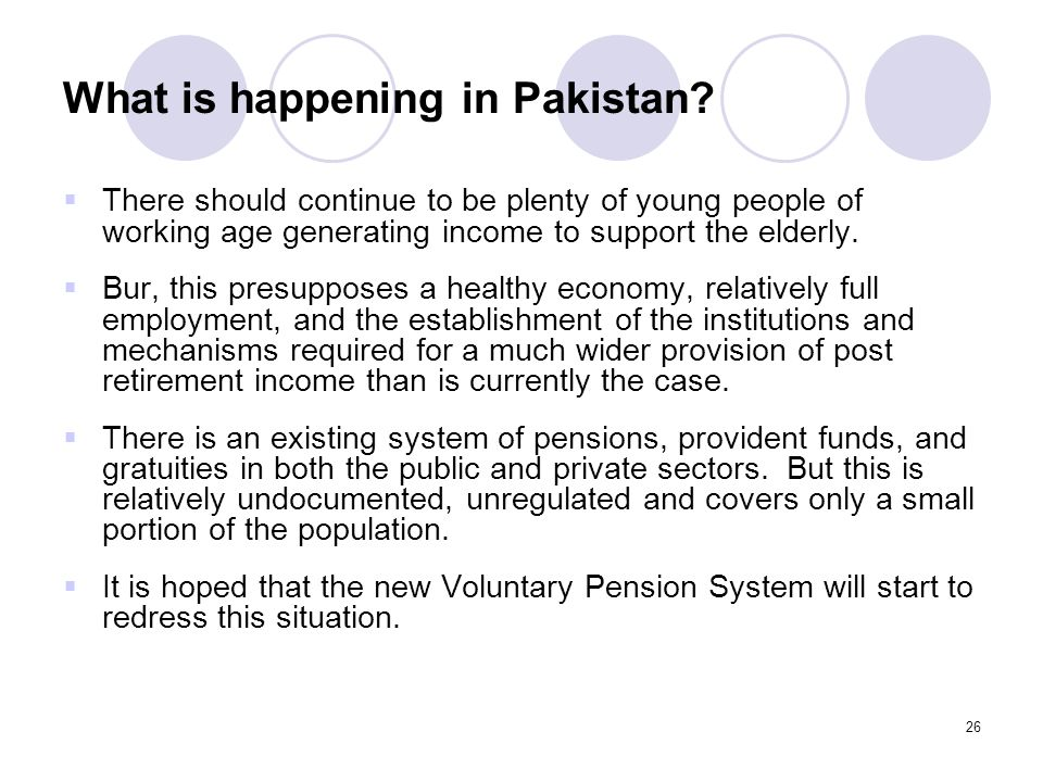 26 What is happening in Pakistan.
