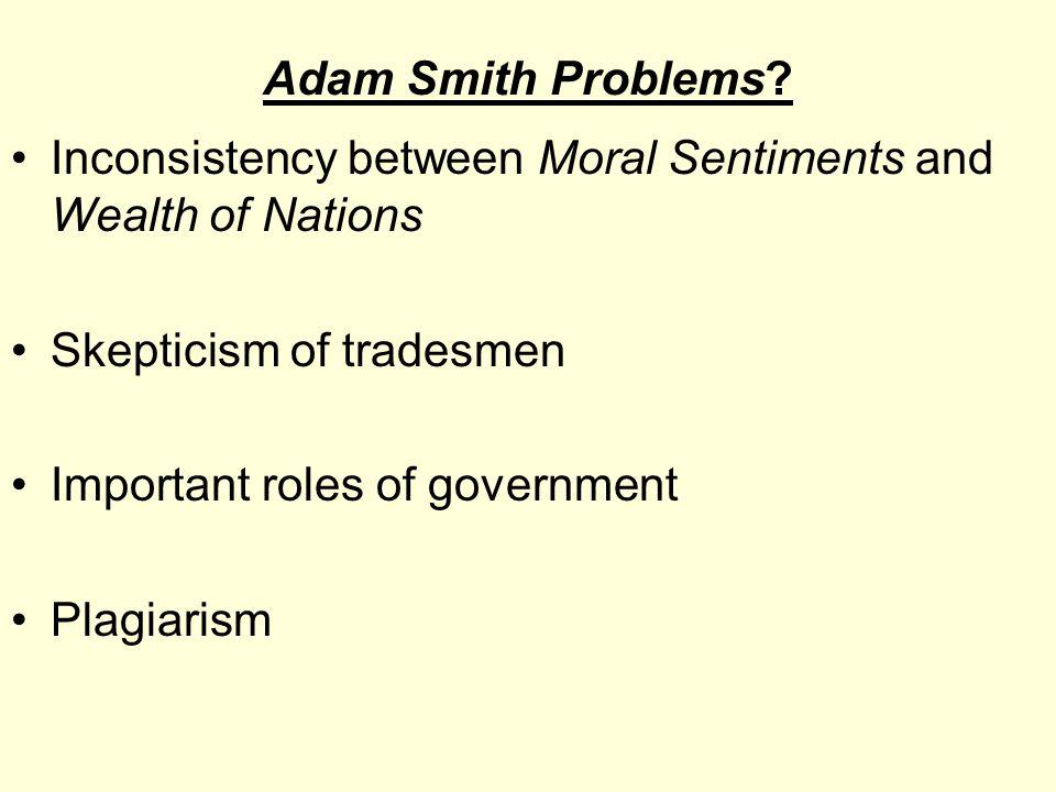 Adam Smith Problems.