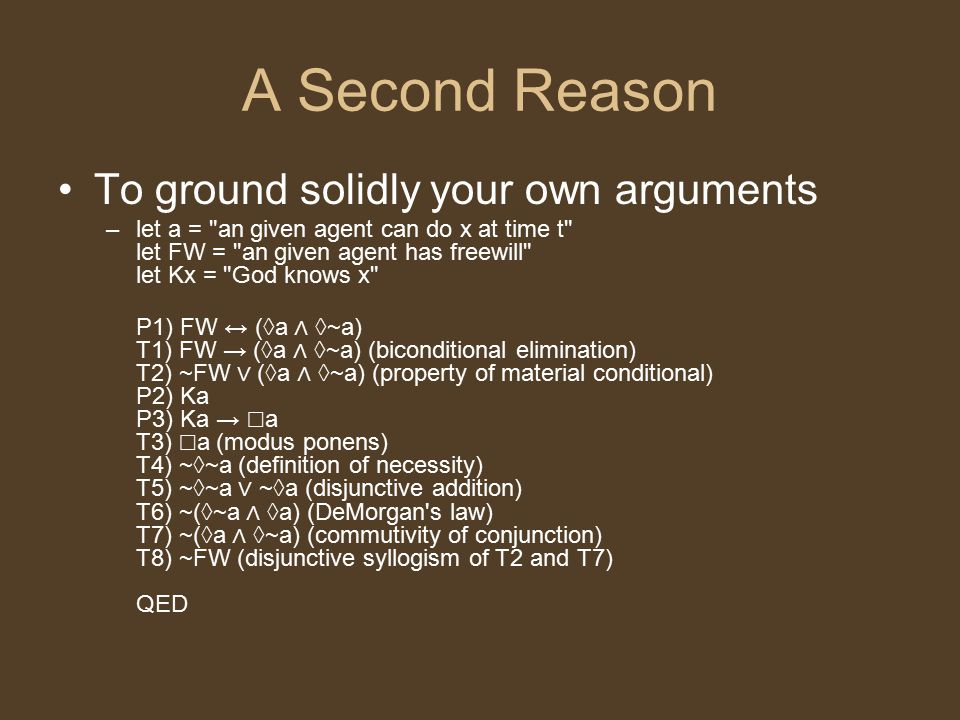 Why Use Formal Logic To Argue.