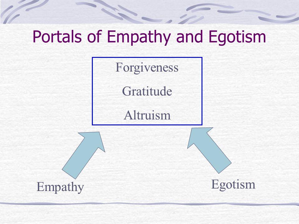 Empathy Egotism Forgiveness Gratitude Altruism Portals of Empathy and Egotism
