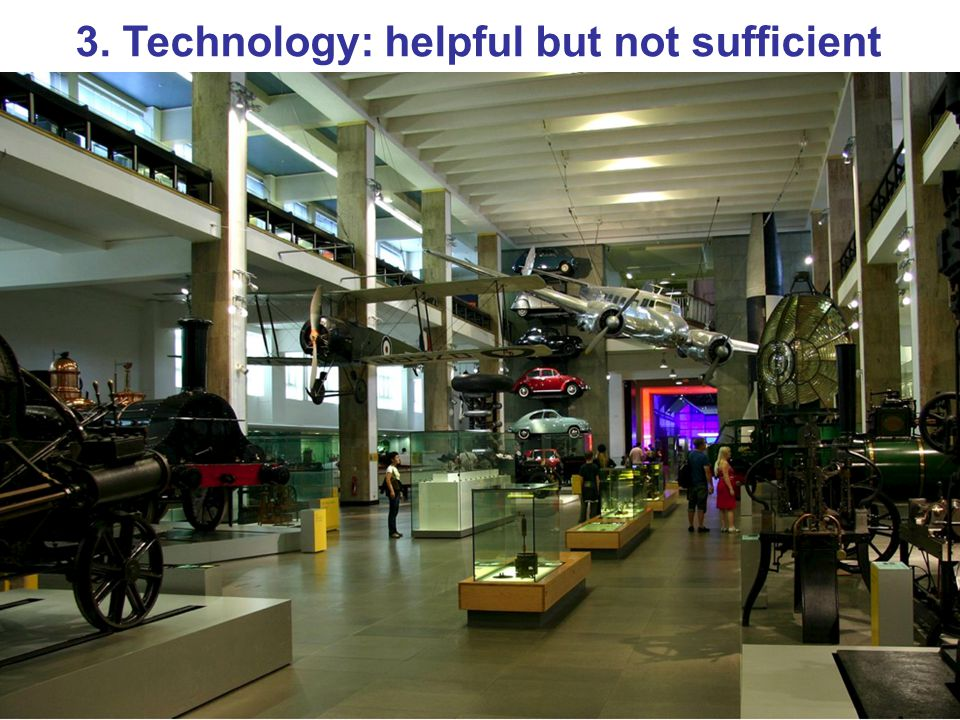 3. Technology: helpful but not sufficient
