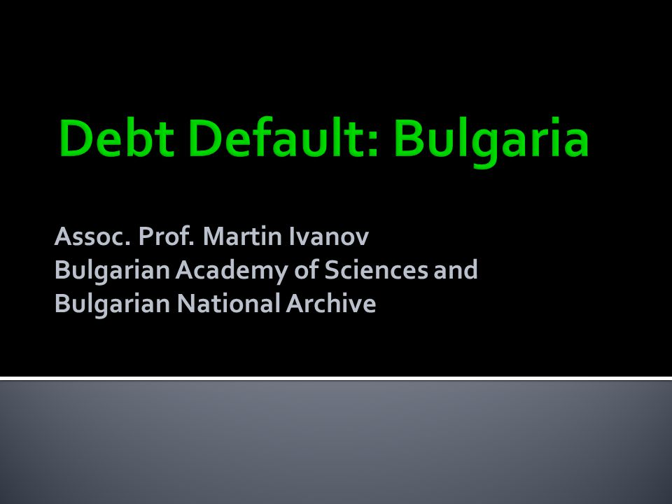Assoc. Prof. Martin Ivanov Bulgarian Academy of Sciences and Bulgarian National Archive
