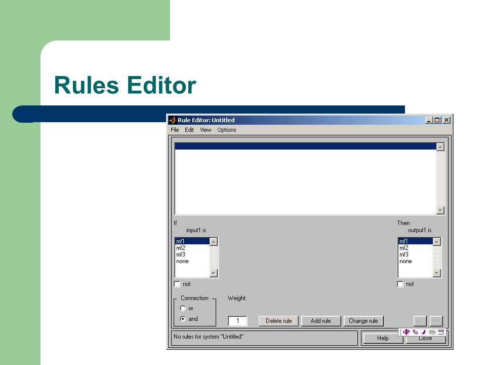 Rules Editor